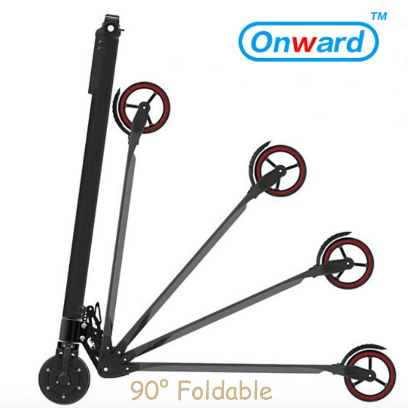 Motor 350 watt carbon fiber folding scooter 48v folding electric scooter folding carbon fiber scooter