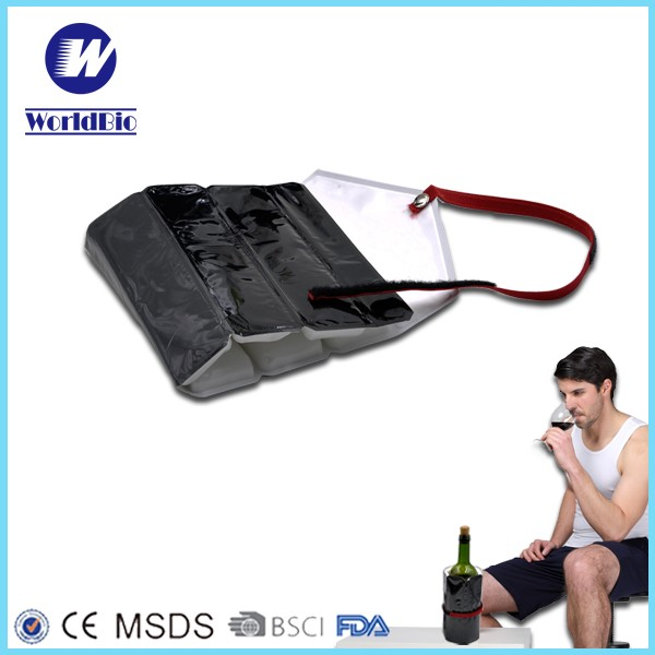 PVC gel can cooler magic Ice pack for bottle cooler