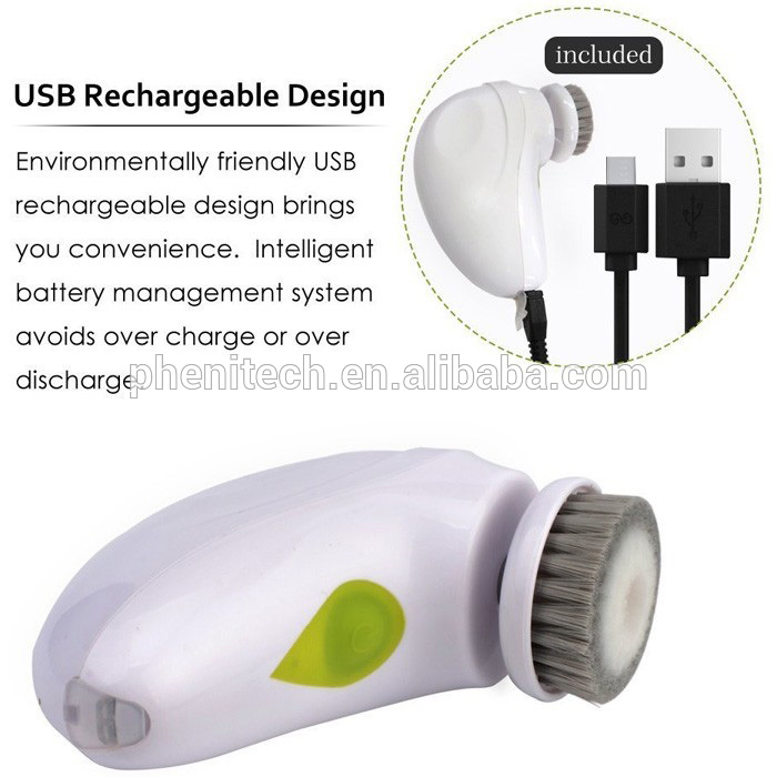2018 Amazon USB electric portable travel facial beauty equipment waterproof facial cleaning brush