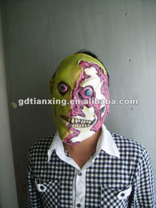BRAND NEW ARRIVAL Adult Half Face Mak Rubber Horror Mask Ghost Design