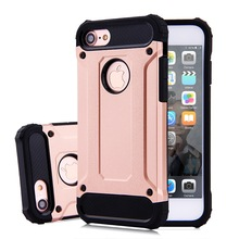 Hybrid TPU PC Combo Shockproof Armor Rugged Mobile Phone Defender Case For IPhone 6 7 8 Plus X