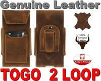 TOGO 2XL GENUINE LEATHER HOLSTER WITH BELT CLIP POUCH CASE FOR iPhone 6 + Plus