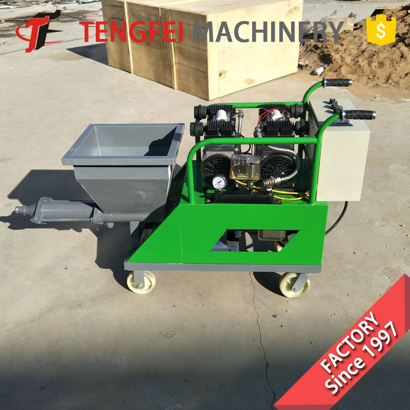 Automatic mini small industry inside outside exterior wall insulation plastering mortar stucco spraying machine diesel