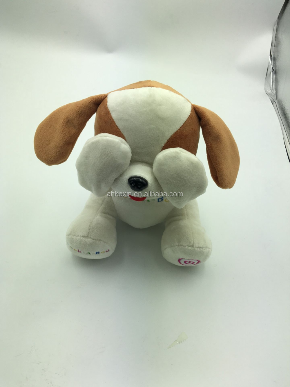 wholesale electric dog toys peek-a-boo laughing toys