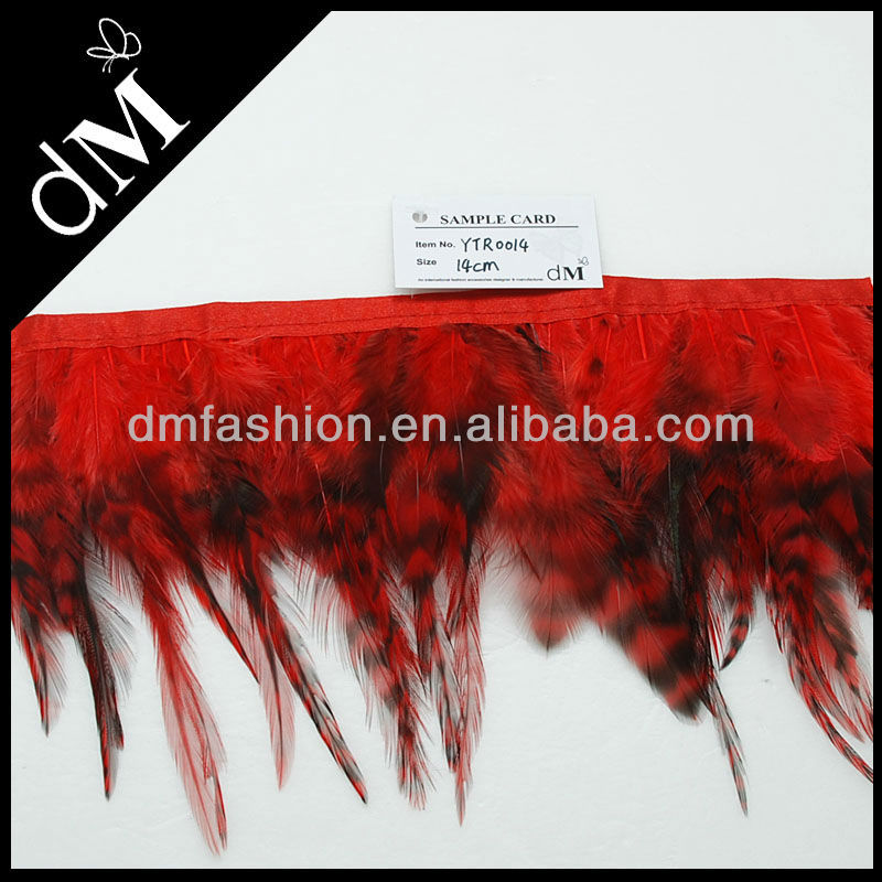 Cheap Dyed carnival feathers wholesale feather for dance costumes YTR0014