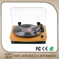 3 Speed Wood Vinyl Turntable Gramophone Player With Aux