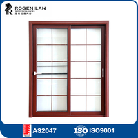 ROGENILAN 80# sliding heavy duty soundproof glass low price security door with glazing
