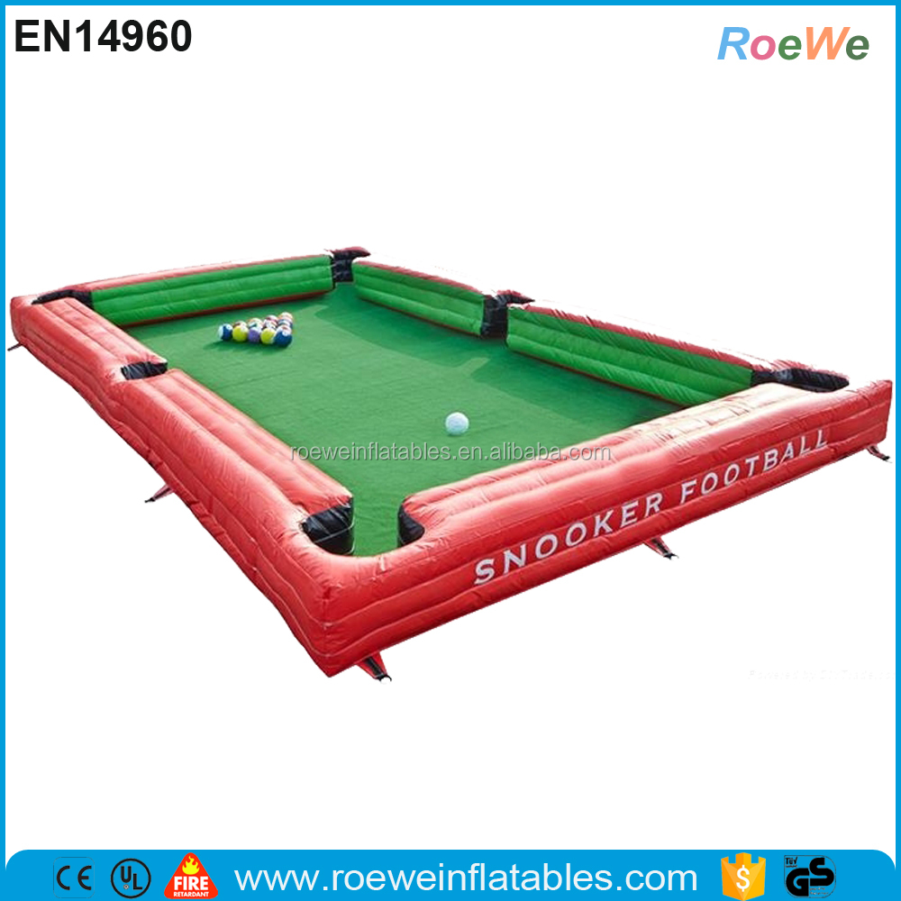 Inflatable Table Portable Inflatable Snooker Ballhuman Inflatable Billiards Table