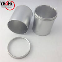 Newest Round Packing Tin Box With Clear Acrylic Window