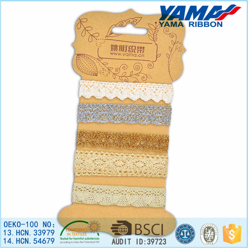 China Leavers Lace High Quality Cotton Crochet Collar Lace Trim