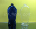 280ml /10 ounce Cobalt Uniquely shaped Plastic PET Bottle