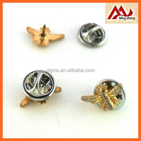 fashion small gold metal bee pin badge for decoration