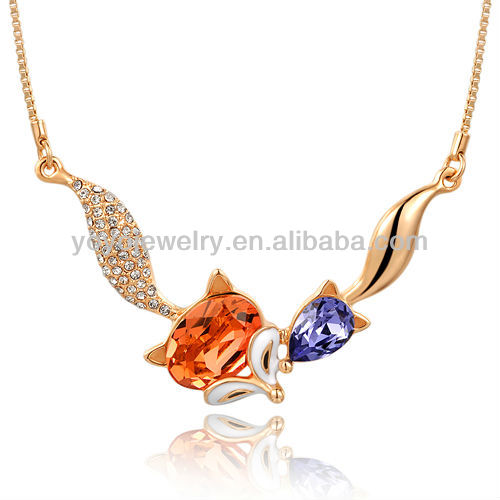 N1273 2014 Valentine's Day 2013 gold necklace designs in 10 grams