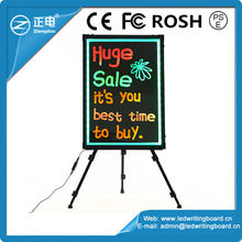 Alibaba express low price 60*80cm hand writing board aluminium frame RGB5050 led message menu sign writing board with remote con