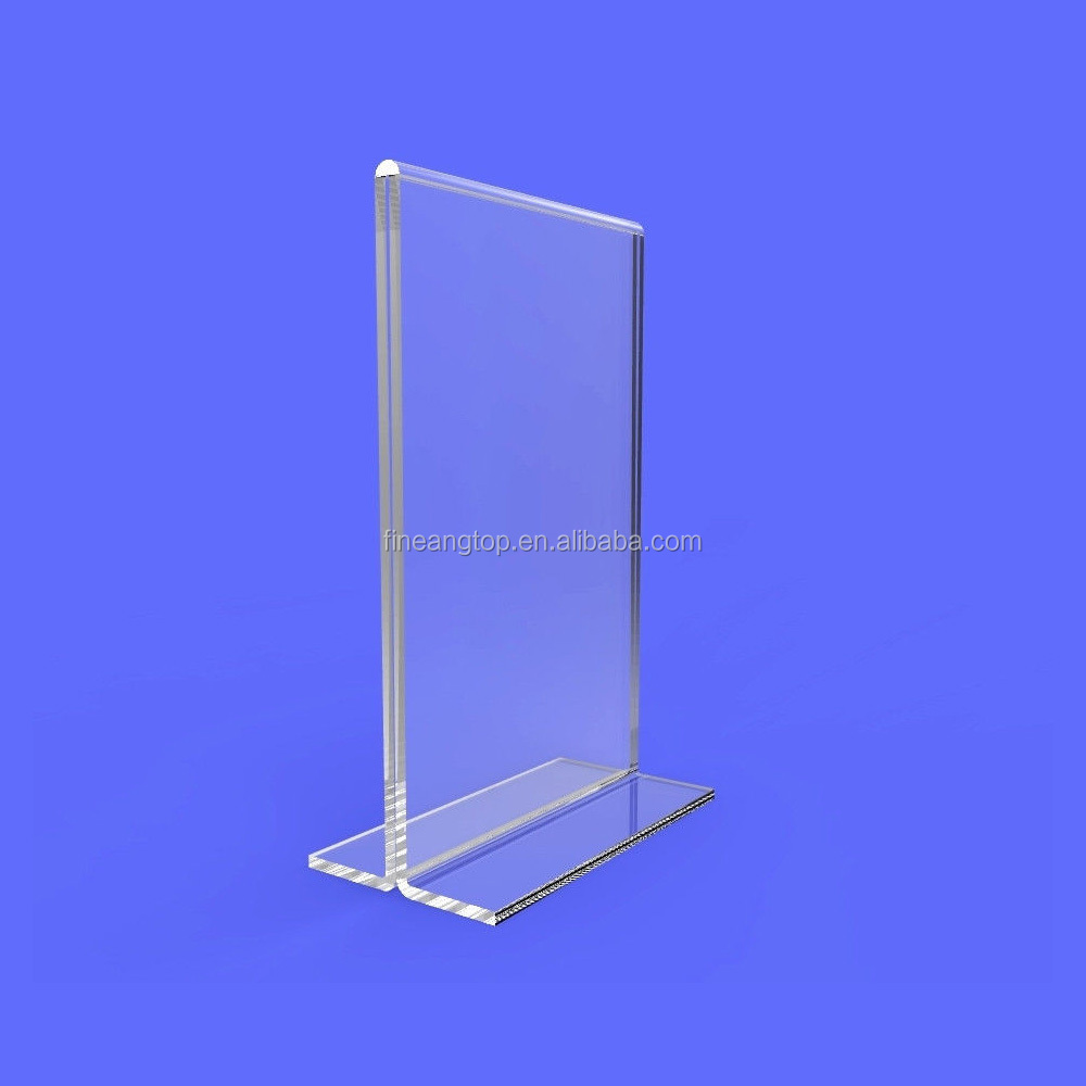 Clear A4 Table Holder Acrylic Sign Display