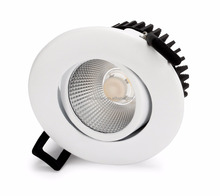 led in Norge gyro Ra95 height 48mm dim to warm 2000-2800k 7w IP54 led downlight