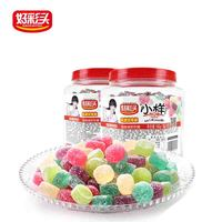 fujian manufacture sour candy gelatin soft candy five fruit flavors sugar free candy
