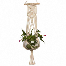 Handmade Cotton Rope Macrame Plant Hangers Outdoor Indoor <strong>Wall</strong> Hanging,Macrame Planter