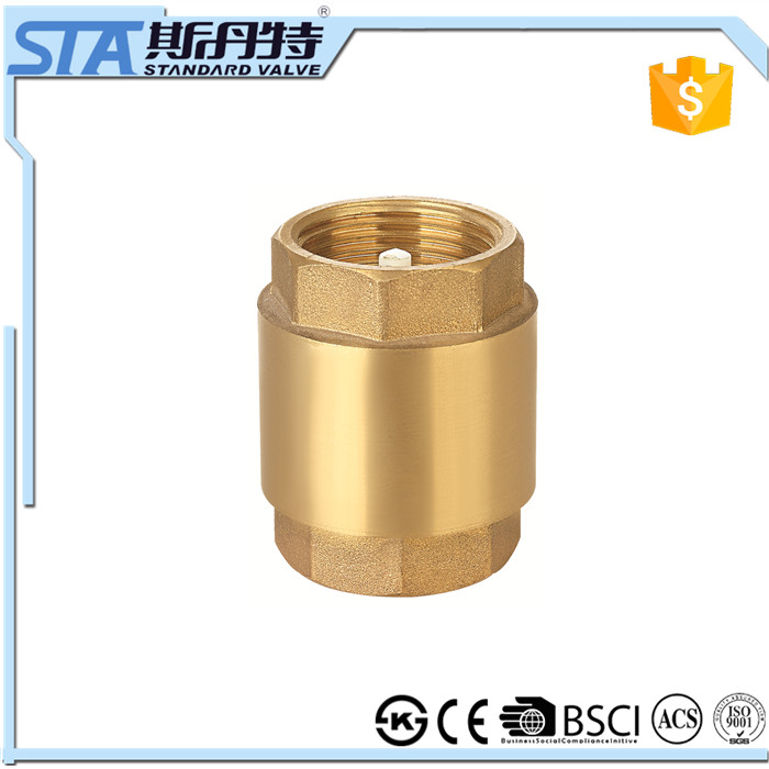 "ART.4001 1/2"" durable professional competitive price inline ball type check valve for water 1/2 inch brass spring check valve"