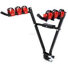 Bicycle Carrier For 3 Bikes Foldable V Shape Car Mount Rear Bike Carrier Bicycle Rack