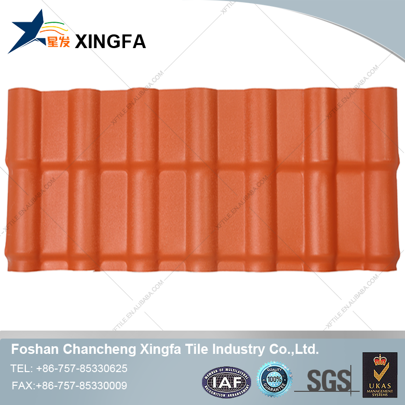 Xingfa plastic recycle plastic pvc roofing sheet for shed color coated roofing sheet