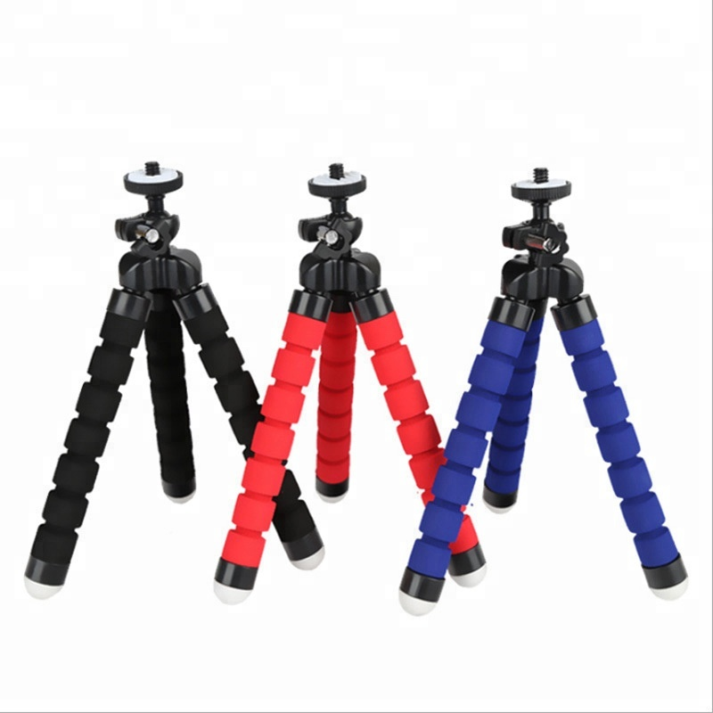 Cheap Mini Flexible Sponge Octopus Tripod Tabletop Tripod Holder Stand for Cell <strong>Phone</strong>
