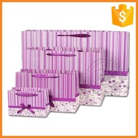Fashion custom pink zebra crossing gift bags with handle