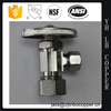 NV14 - Brass Needle Valve /lead free , flow control inline needle valve , - MPT x FPT