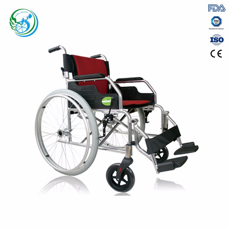 Aluminium comfortable lightweight portable manual wheelchairs