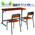 Cheap School Furniture Double Student Desk and Chair For Classroom Used
