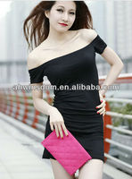 wholesale LADIES FASHION SEXY DRESS WITHOUT SHOULDER