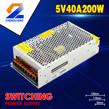 200W 5V Constant Voltage 5V 40A Led Driver Switching Power Supply For Lamps With CE RoHS FCC