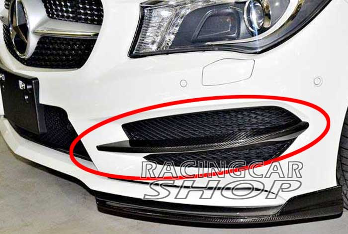 Real Carbon Fiber Front Lip Splitter Spoiler Flaps For W117 C117 CLA200 CLA250 <strong>M003</strong>