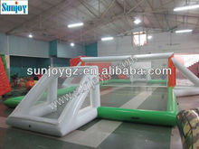 inflatable water volleyball playground/air sealed volleyball field for sports