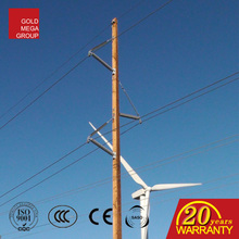 6m 7m 8m 9m 10m 11m 12m Height Wood Electric Poles Treated By Creosoted For Overhead Power Lines