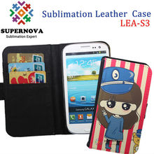 Sublimation leather back case cover for samsung galaxy s3