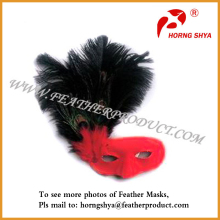 Mardi Gras Ostrich Feather Masks
