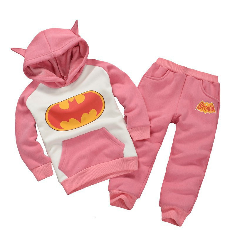 Children Clothing Sets Spring Autumn baby Boys Girls Clothing Sets Fashion Hoodie+pants 2 Pcs suits 1-6 years kids clothes