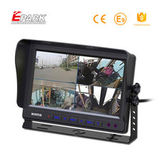 "Free sample 9"" car quad monitor tft on dash 9 inch lcd"