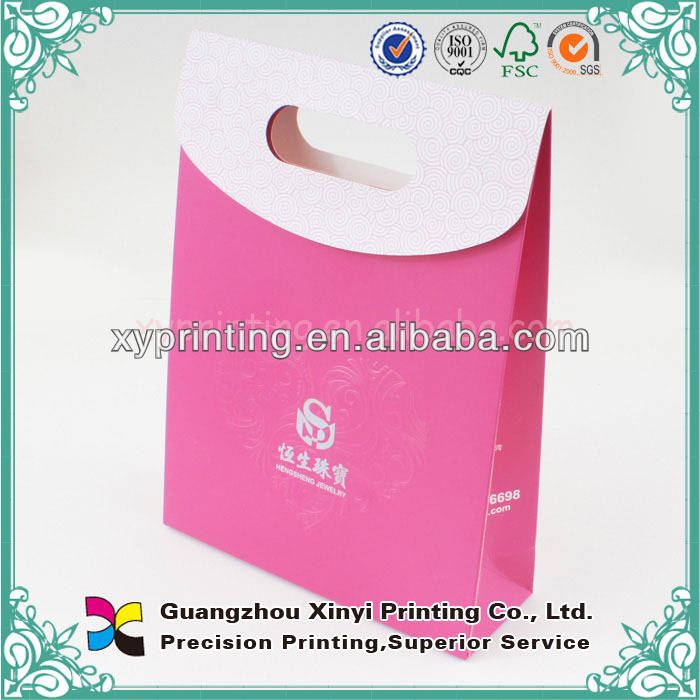 Eco-Friendly Coated Matt Laminated Pink Paper Carrier Bag
