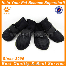 JML Summer Dog Simple Soft Sole Nonslip Mesh Boots, Breathable, Flexible, Cool, for Dog Daily Walks or Stroll, Set of 4, Black