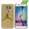 Make your own logo laser engraving blank wood for samsung s6 phone shell
