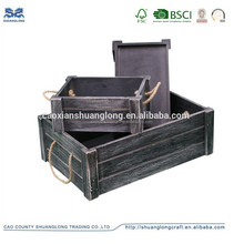 Wholesale shabby chic vintage wooden fruit crates ,cheap wooden crate for sale