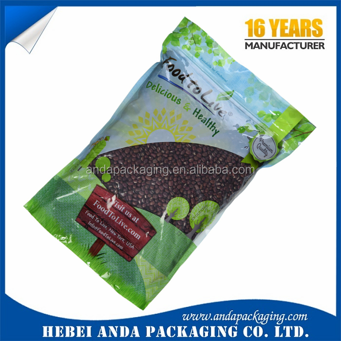 Clear vacuum plastic bags for cereal packaging food bar packaging bag/ cereal bar packaging