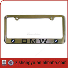 USA size Stainless steel custom car number plate frame