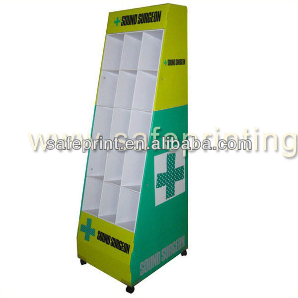 sales promotion sound surgeon grid cell grid shop floor stand rack on 4 wheels pop shelf display