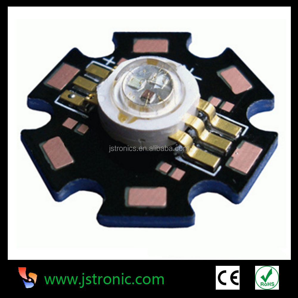 High brightness Epiled chip 3W RGB high power led chip with PCB star
