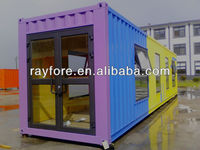 single of 40 ft container house for exhibition