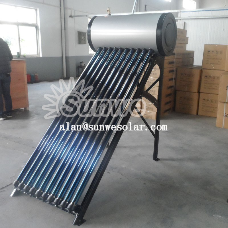 Pressurized Solar Heater 10tube 12 tube 15tube 18tube 20tube 24tube 30tube sunwe new energy 6bar working pressure