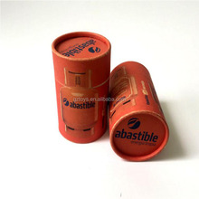 Manufacturer wholesale luxury carboard paper orange printed hat round box for tea tube packaging Box with Roll
